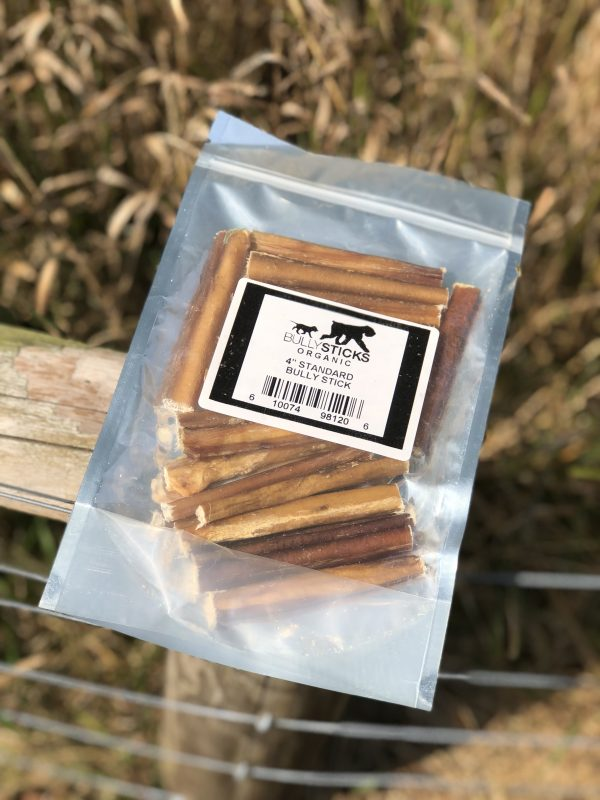 4″ Standard Bully Stick (15 pieces per bag)