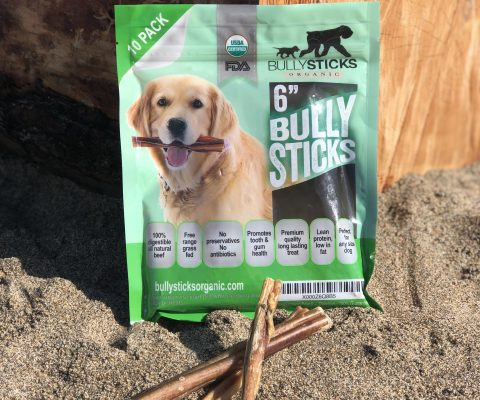 6″ Standard Bully Stick dog treats – Low Odor (10 pieces per bag)