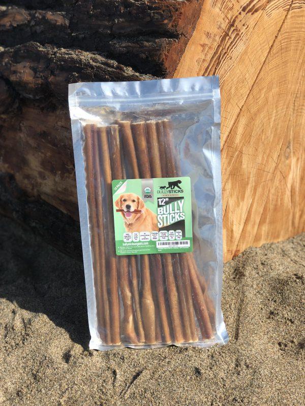 12″ Standard Bullystick dog treats (10 per bag)