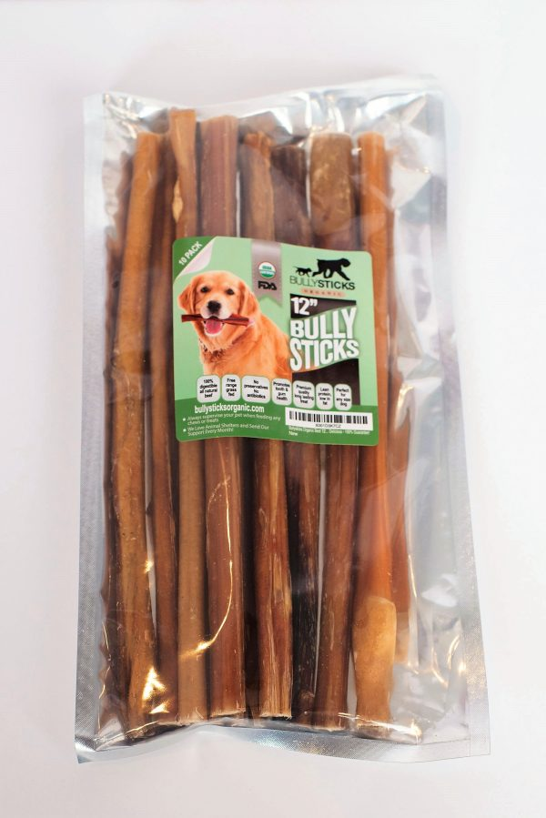 Bully Grip + 12″ Standard Bullysticks (10 pack (Low Odor))