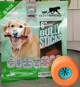 Bully Grip + 6″ Standard Bullysticks (10 pack)